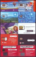 UKRAINE. 10 ALL DIFFERENT GSM SIM-CARDS WITH CHIP, UNUSED IN MINT CONDITION - Ukraine