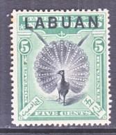 LABUAN  76    *   FAUNA   PEACOCK - North Borneo (...-1963)
