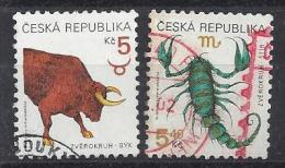 Czech-Republic  1999  Zodiac Signs (o) Mi.240-241 - Czech Republic