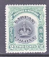 LABUAN  100    *  CROWN - North Borneo (...-1963)
