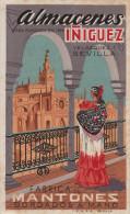 ALMACENES IÑIGUEZ CASA FUNDADA EN 1899 FÁBRICA DE MANTONES BORDADOS A MANO. SEVILLA ESPAÑA - Tiendas