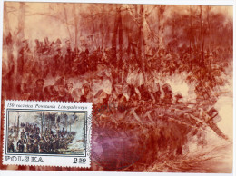 Poland 1987 Wojciech Kossak Painter, 150th Anniv Of Powstania Listopadowego, Canceled In Warszawa - Cartes Maximum
