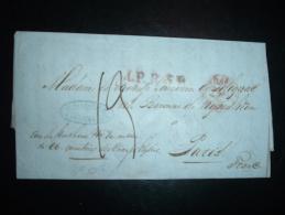 LETTRE (PLI) AMSTERDAM OBL/21 MARS 52 PARIS + TAXE + DUCHESSE DOUAIRIERE DE POLIGNAC Née BARONNE DE NYVENHEIM - 1849-1876: Periodo Clásico