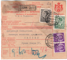 Yugoslavia Bulletin D'expedition 1940 Sarajevo To Skopije - 1931-1941 Königreich Jugoslawien