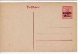 3477/ Deutsches Reich Besatzung Belgien Ganzsache P 11II Ungebraucht/ * - Occupazione 1914 – 18