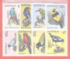AUS SC #732-9 MNH  1980 Birds, CV $7.80 - 1980-89 Elizabeth II