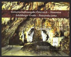 ÖSTERREICH 2013 ** Adelsberger Grotte, Cave / Gemeinschaftsausgabe Mit Slowenien - Block MNH - Gemeinschaftsausgaben