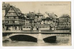 Ref 195 - STRASBOURG - Pont Du Faubourg National (carte Animée Avec Tramway) - Strasbourg