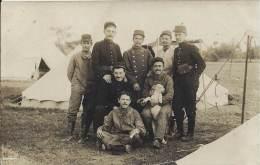 Militaria - Carte Photo - Groupe D'aérostiers Au Campement - War 1914-18