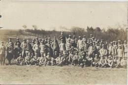 Militaria - Carte Photo - Groupe De Poilus - Aérostiers Et Compagnie Du Génie - War 1914-18