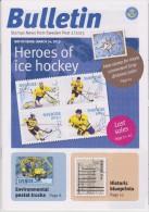 Sweden Brochure Bulletin 2013/2 Ice Hockey - Postal Vehicles - UNESCO World Heritage - Compass - Suède
