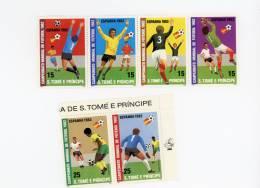 Sao Tome-1982-Espagne-coupe Du Monde De Football-valeur 14 Euro***MNH-MI 754/9 - Fußball-Weltmeisterschaft