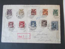 Registered Letter Karlovy Vary Kongress Sionistick / Zionism. Judaika. Sonderstempel. Reko. Judentum - Tschechoslowakei/CSSR