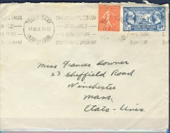 ##F737. France 1927. Michel 161+225 On Cover. Used(o) - France