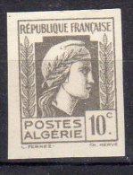 MARIANNE D´ALGER - 10c Gris - N° 209 ND** - Unused Stamps