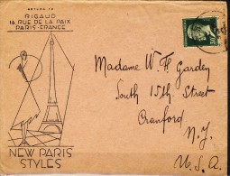 ##F739. France 1926. Cover Shipped To USA. Michel 193. - France