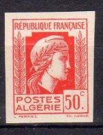 MARIANNE D´ALGER - 50c Rouge- N° 211 ND** - Unused Stamps