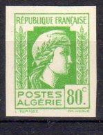 MARIANNE D´ALGER - 80c Vert Clair - N° 212 ND** - Unused Stamps