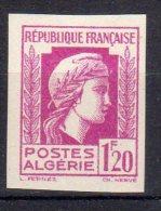 MARIANNE D´ALGER - 1,20F Lilas-rose - N° 213 ND** - Unused Stamps