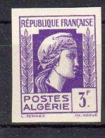 MARIANNE D´ALGER - 3F Violet - N° 216 ND** - Unused Stamps
