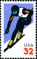 1998 USA Alpine Skiing Stamp Sc#3180 Sport Snow - Climate & Meteorology