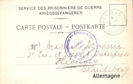 KRIEGSGEFANGEN POSTKARTE #16 LAGER HAVELBERG WELTKRIEG 1914 1918 BRANDEBOURG CAMP PRISONNIER GUERRE - Dokumente