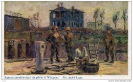 SCAPHANDRIER - SAPEURS-PONTONNIERS A NIEUPORT WW1 - Non Classificati