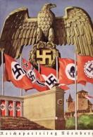 Cartolina Viaggiata GERMANIA FASCISMO FUHRER Germany Fascism Postcard - Partiti Politici & Elezioni