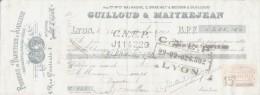 LETTRE DE CHANGE - 1921 - Fabrique De Bijouterie Joaillerie - Diamants Pierres Fines LYON Superbe - 1900 – 1949