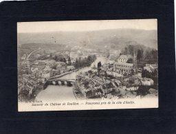 """51481    Belgio,  Souvenir Du Chateau De Bouillon,  Panorama Pris De La Cote D""""Auclin,  VGSB  1905 - Bouillon"""