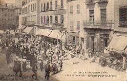 42 RIVE-de-GIER  Fête Patronale  Départ Pour La Joute - Rive De Gier
