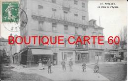 92 - PUTEAUX - LA PLACE DE L'EGLISE - - Puteaux
