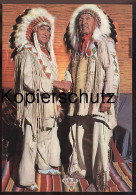 POSTKARTE INDIAN CHIEF SIOUX CREE Indianer Indians Indien Kopfschmuck Feather Headdress Coiffe Cpa Postcard AK - Indiani Dell'America Del Nord