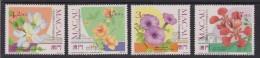 Macao Flowers Fiori 4 V. Mnh - 1999-... Regione Amministrativa Speciale Della Cina