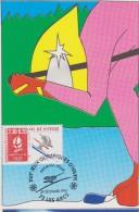 CARTE PREMIER JOUR FRANCE 1990 Jeux Olympiques D'Albertville 1992 Ski De Vitesse  Les Arcs - Hiver 1992: Albertville