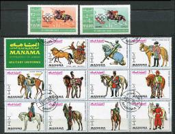 (cl 17 - P45) (lot 2) Manama **, Ob. - (ref. Michel Au Dos) J.O. Hippisme. Cavaliers - - Manama