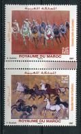 """(cl 17 - P46) Maroc** (ref. Michel Au Dos) Tbre Du Bloc N° 33 - Art. Tableaux. """"Calvacade"""" Et """"Chevaux Galopant"""" - - Maroc (1956-...)"""