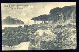 Cpa D' Italie Isola D' Ischia  - Pineto E Castello ,  Via Del Cremato  JA15 33 - Castellammare Di Stabia