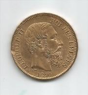 BELGIQUE - Pièce En Or De 20 F. - LEOPOLD II - 1870 - 1865-1909: Leopold II