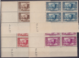 ALGERIE - N° 131/134** - Centenaire De La Prise De CONSTANTINE - Série Complète En COIN DATE 08/1937. - Luxe - Algérie (1924-1962)