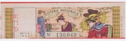 Loterie Nationale 1952 - 40 ème T. A - Entier De 1.750Fr.- Perforation ALG émis En Algérie - Billets De Loterie