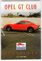 OPEL GT CLUB Nederland Magazine - Nr. 1  Maart  2007 - Tijdschriften
