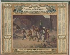 ALMANACH Des POSTES 1901 OBERTHUR Capture D'un Jeune Tigre ( Dromadaire Hindous Scène Orientale Double Cartonnage - Tamaño Grande : 1901-20