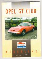 OPEL GT CLUB Nederland Magazine - Nr. 3  September  2006 - Tijdschriften