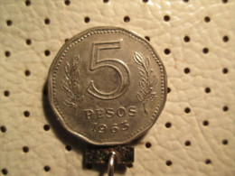 ARGENTINA 5 Pesos 1963      # 1 - Argentina