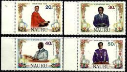 NAURU CHRISTMAS MAN ISSUED 1982 SET OF 4 20-50 CENTS MINT SG? READ DESCRIPTION !! - Nauru