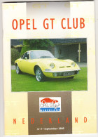 OPEL GT CLUB Nederland Magazine - Nr. 3  September  2005 - Tijdschriften