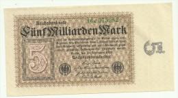 Germany 5 Milliarden Mark 10/09/1923 UNC/AUNC - [ 3] 1918-1933 : República De Weimar