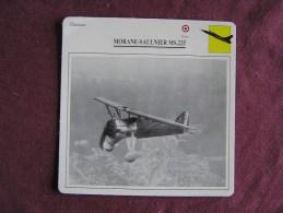 MAURANE SAULNIER MS 225   Chasseur  FICHE AVION Avec Description  Aircraft Aviation - Airplanes