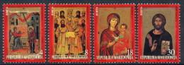 Macedonia 1999 Icons From Monastery Lesnovo, Art, Religion, Christianity, Set MNH - Macédoine